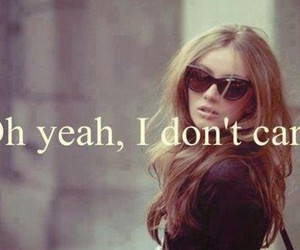 quote, care, and i don't care image