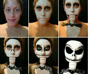 Halloween, makeup, and jack image