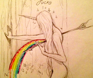 rainbow, art, and drawing image