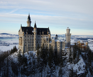 castle, beautiful, and snow image