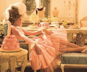 pink, cake, and marie antoinette image