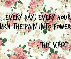 don't give up, flowers, and pain image