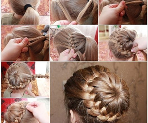 coiffure, diy, and hair image