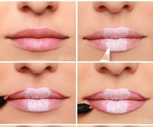 lips, pink, and tips image