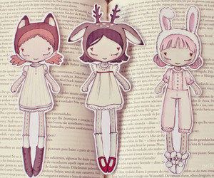 book, dolls, and kawaii image