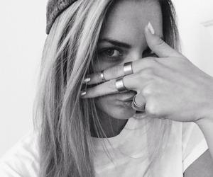 girl, hair, and rings image