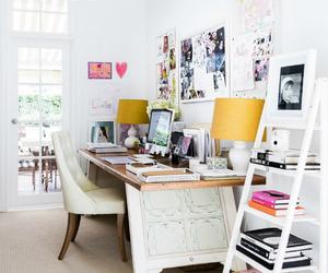 desk and white image