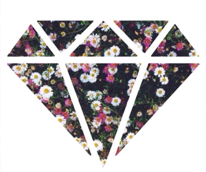 diamond, flowers, and background image