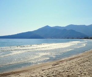 beach, golden, and thassos image