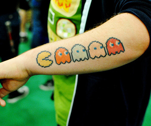 tattoo, pacman, and cool image