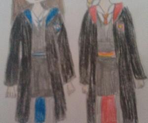 draw, griffindor, and hogwarts image
