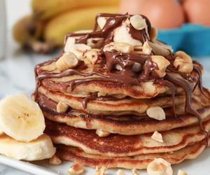 pancakes, food, and banana image