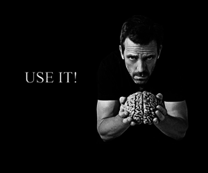 brain, dr house, and quotes image
