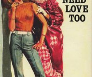 clowns, vintage, and love image