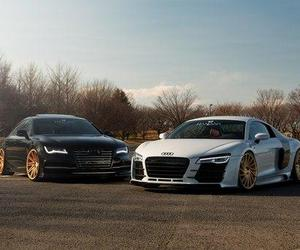 car and audi r8 & s7 image
