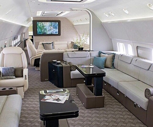 luxury, airplane, and jet image