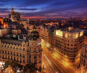 madrid, city, and lights image