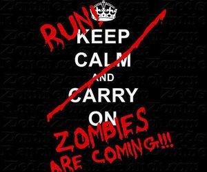 zombies, keep calm, and run image