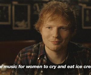 ed sheeran, music, and ice cream image