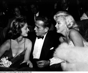 Marilyn Monroe, Humphrey Bogart, and Lauren Bacall image