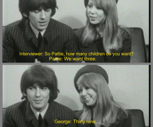 pattie boyd, george harrison, and the beatles image