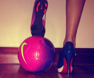 football, nike, and soccer image