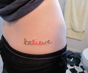 believe, lie, and tattoo image