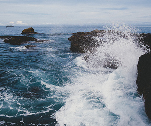 sea, nature, and waves image