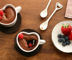 chocolate, strawberry, and food image