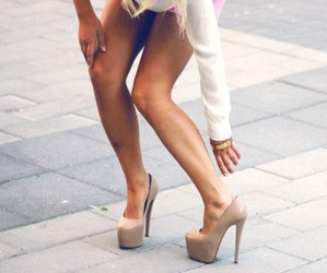 beauty, legs, and shoes image
