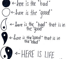 bad, good, and quotes image