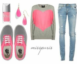 pink, vans, and jeans image