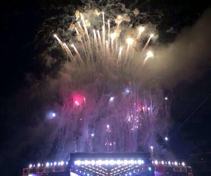one direction, concert, and fireworks image