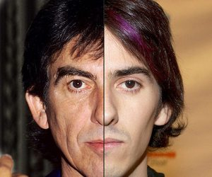 Dhani Harrison, family, and father image