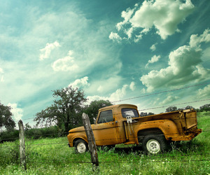 truck, sky, and summer image