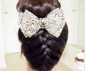 hair, style, and bow image