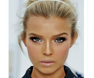 blonde, makeup, and blue eyes image
