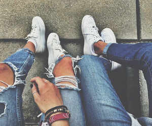 shoes jeans outfit ootd image