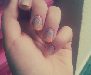 gradient, nail art, and nails image