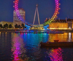 london, colors, and london eye image