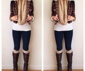 fall, scarfs, and sweaters image