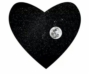 heart and moon image