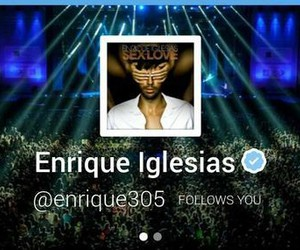 enrique iglesias, follow, and latino image