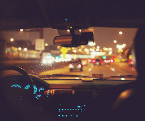 car, night, and road image