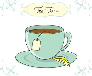 tea, lemon, and tea time image