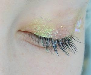makeup, glitter, and eye image
