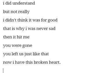 broken heart, sad, and poem image