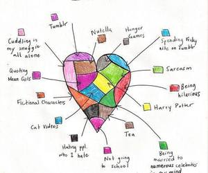 heart, tumblr, and nutella image