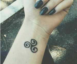 teen wolf, tattoo, and nails image