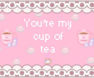 tea, pink, and kawaii image